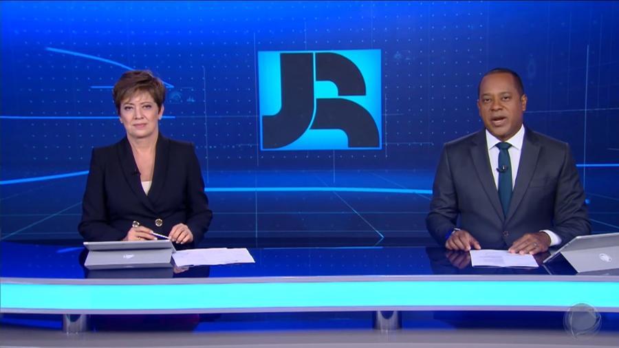 Christina Lemos e Luiz Fara Monteiro no Jornal da Record  - Reprodução / Internet