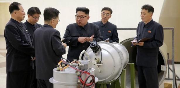 O ditador da Coreia do Norte, Kim Jong-Un, busca se tornar uma potência nuclear - Foto: divulgação Coreia do Norte/AFP