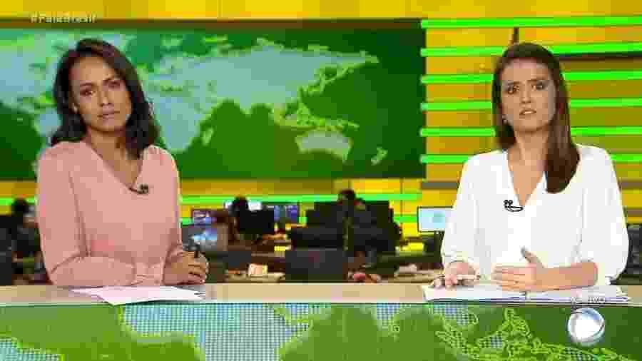 """Cenário do """"Fala Brasil"""" é criticado desde o lançamento - Novo cenário do Fala Brasil (Reprodução/Record TV)"""