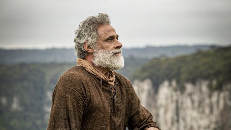 Oscar Magrini como Noé em Gênesis (Edu Moraes / Record TV) - Reprodução / Internet