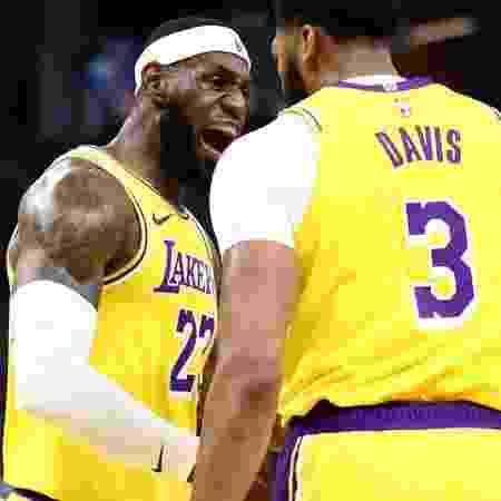 Anthony Davis e LeBron James - GettyImages