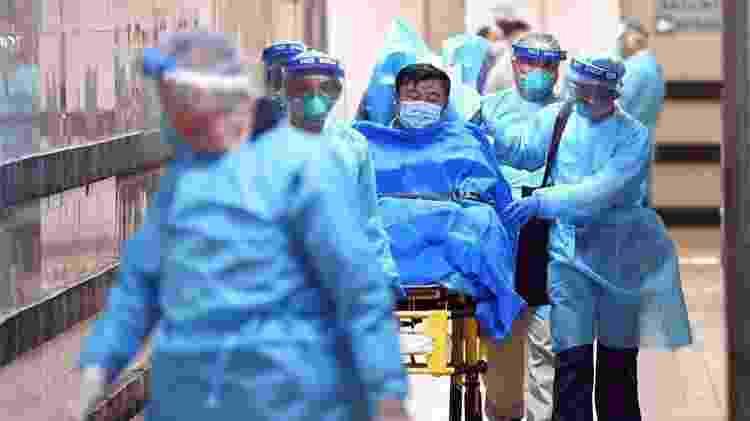 Paciente é transportado em hospital no Irã, infectado com coronavírus  - Twitter