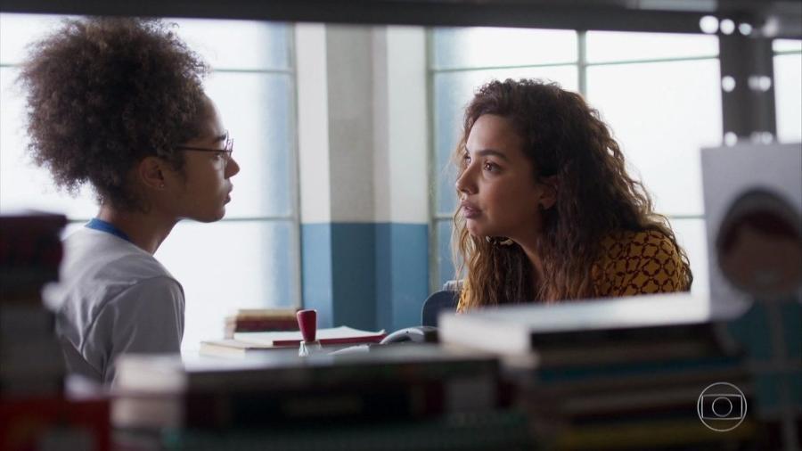 Alice (Bruna Inocencio) e Francisca (Gabriela Moreyra) em Bom Sucesso (Reprodução/TV Globo). - Alice (Bruna Inocencio) e Francisca (Gabriela Moreyra) em Bom Sucesso (Reprodução/TV Globo).