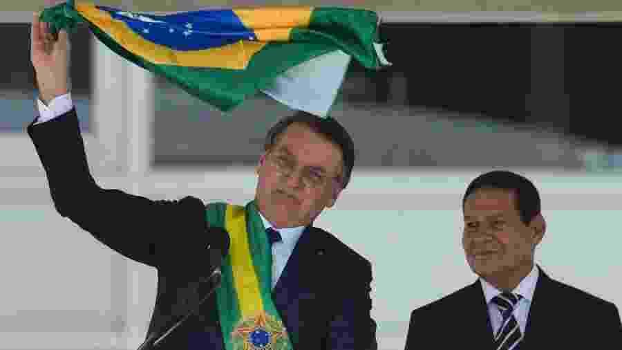 Informações foram obtidas em ação contra Jair Bolsonaro e Hamilton Mourão, presidente e vice-presidente da República - Marcelo Camargo/ABr