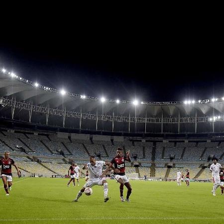 Bruno Henrique, do Flamengo, em partida contra o Bangu, que era o mandante -                                 ALEXANDRE LOUREIRO/ESTADÃO CONTEÚDO
