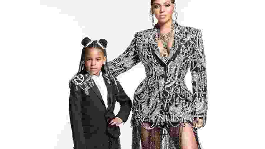 Beyoncé e a filha, Blue Ivy Carter - Reprodução / Internet