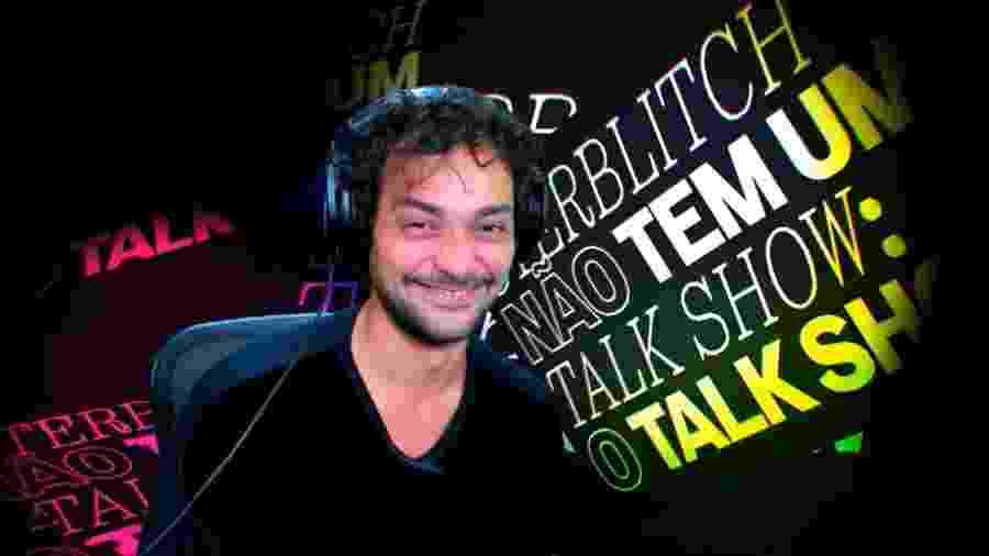 Eduardo Sterblitch em seu talk show (Reprodução/TV Globo). - Reprodução / Internet