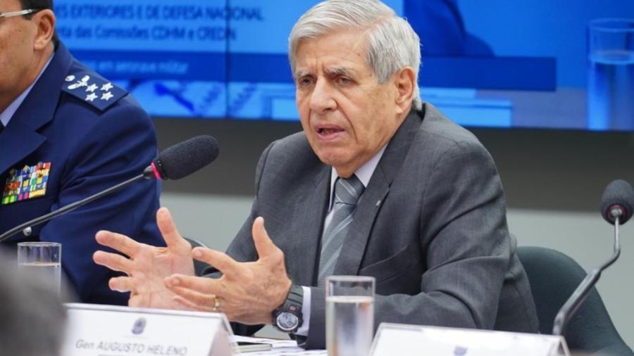 Ministro general Augusto Heleno  -  Pablo Valadares/Câmara dos Deputados