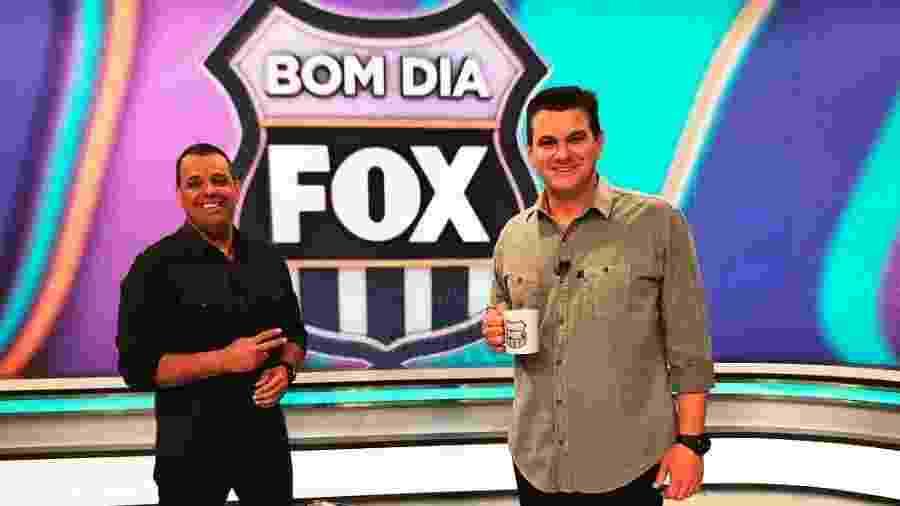 Luciano Calheiros e Jackson Pinheiro, apresentadores do Bom Dia Fox - Divulgação