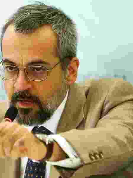 """Ministro da Educação, Abraham Weintraub, - O ministro da Educação, Abraham Weintraub, durante  apresentação do """"Compromisso Nacional pela Educação Básica""""."""