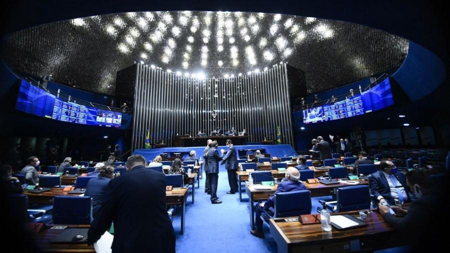 Plenário do Senado Federal durante sessão deliberativa semipresencial                              - Marcos Oliveira/Agência Senado