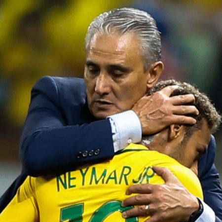 Neymar e Tite, que estarão na Copa América na Colômbia e Argentina - GettyImages