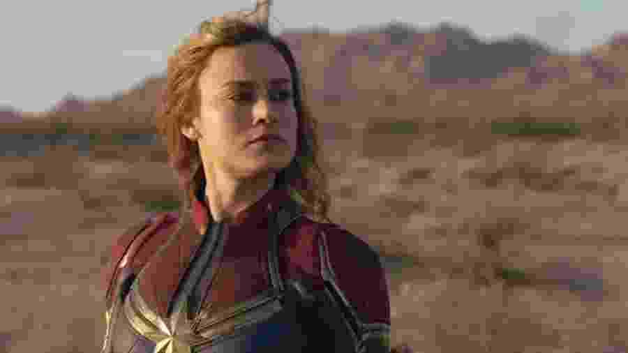 A americana Brie Larson na pele da Capitã Marvel -