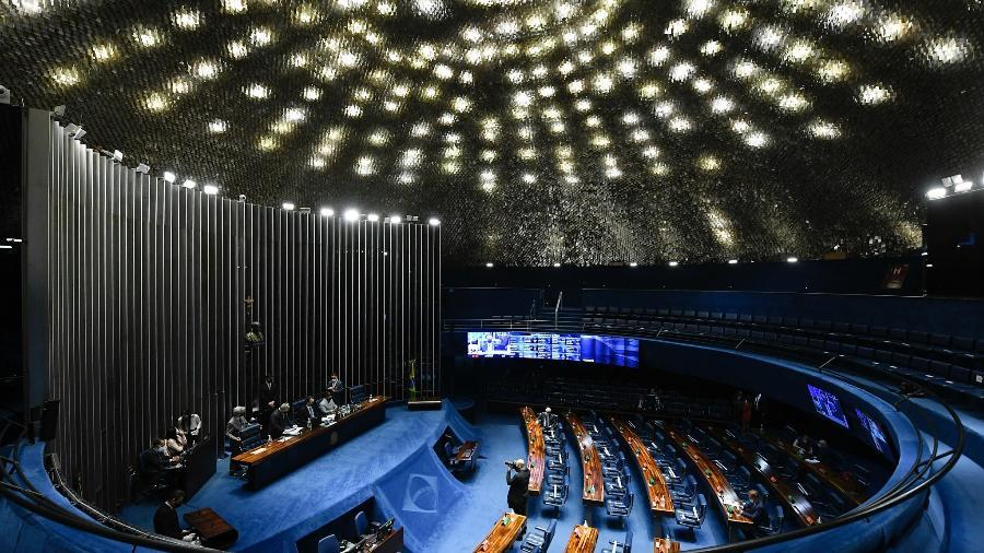 Senadores derrubaram veto de Bolsonaro por 45 votos a 25 - Jefferson Rudy/Agência Senado