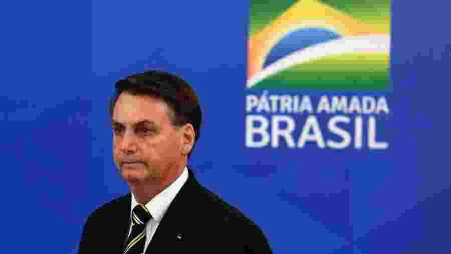 """Jair Bolsonaro chamou a Folha de """"canalha"""" e mandou um repórter do Estado de S.Paulo calar a boca                     -                                 EVARISTO SA/AFP"""