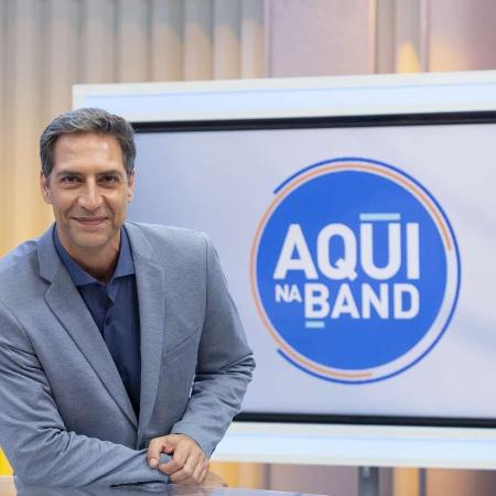 "Afastado do ""Aqui na Band"", Luís Ernesto Lacombe deixou a emissora                - KELLY FUZARO/BAND"