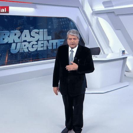 Datena apresenta o Brasil Urgente: apresentador narrará futebol novamente na Band - Reprodução / Internet