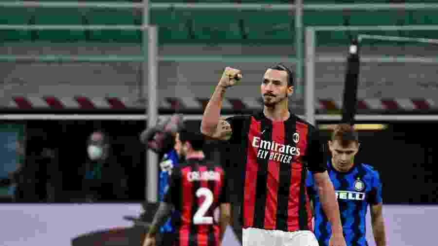 Ibrahimovic é o principal jogador do Milan, líder do Campeonato Italiano - MIGUEL MEDINA / AFP