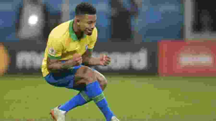 Gabriel Jesus, em ação pela seleção brasileira - Reprodução