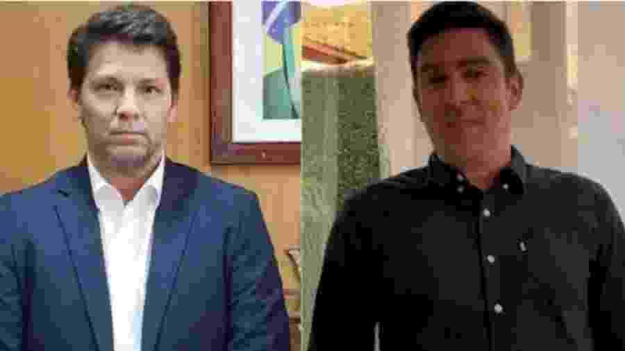 No vídeo, além de satirizar a campanha do Planalto, Adnet (foto da direita) também fez paródias de outras pessoas, como o presidente Jair Bolsonaro                              - Reprodução