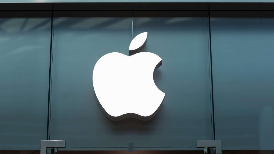 Logo da Apple em loja - Logo da Apple em loja