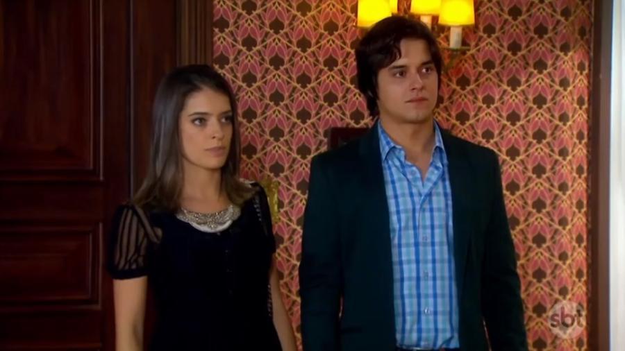Lisandra Cortez e Guilherme Boury como Maria Cecília e Júnior em Chiquititas (Reprodução / SBT) - Reprodução / Internet