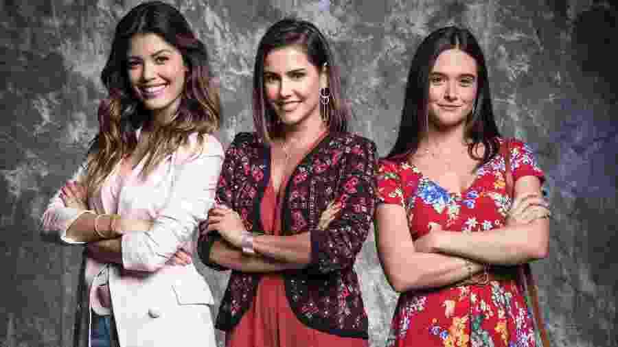 """Kyra (Vitória Strada), Luna (Juliana Paiva) e Alexia (Deborah Secco), protagonistas de """"Salve-Se Quem Puder"""" - Divulgação/Globo"""