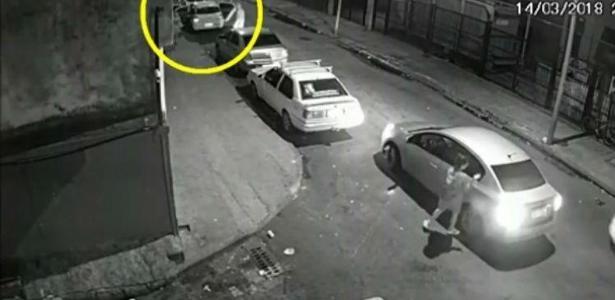 A Polícia Civil já tem imagens do momento em que Marielle saía do encontro, na Lapa - Foto: Reprodução / TV Globo
