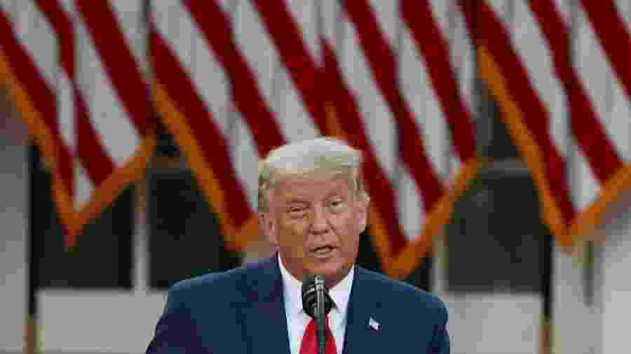 Campanha de Trump entra com pedido para 2ª recontagem de votos na Geórgia -                                 TASOS KATOPODIS / GETTY IMAGES NORTH AMERICA / GETTY IMAGES VIA AFP