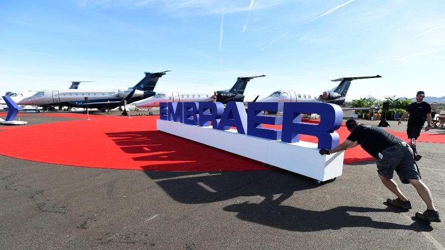 Embraer aponta retomada difícil, mas reforça otimismo com jato de até 150 lugares - David Becker/Reuters
