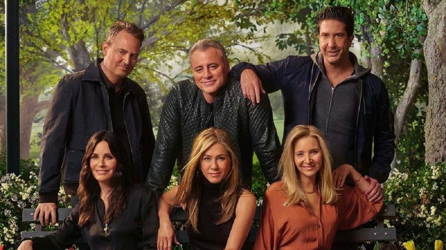 O sexteto de Friends se reuniu num especial, 17 anos após o fim do seriado - Divulgação HBO Max