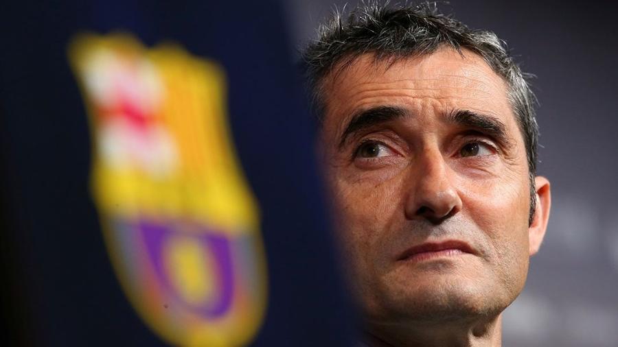 Ernesto Valverde desconversou ao ser perguntado sobre a independência da comunidade - Albert Gea/Reuters