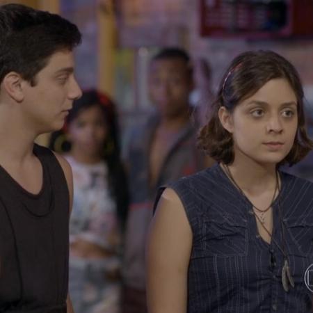 Mari (Maria Luiza Campos) e Jeff (Cadu Libonati) em Malhação - Sonhos (Reprodução / Globo) - Reprodução / Internet