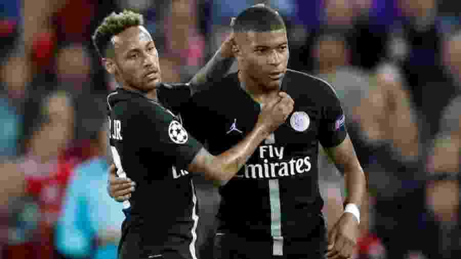 Neymar e Mbappé, os dois protagonistas do Paris Saint-Germain - Getty Images