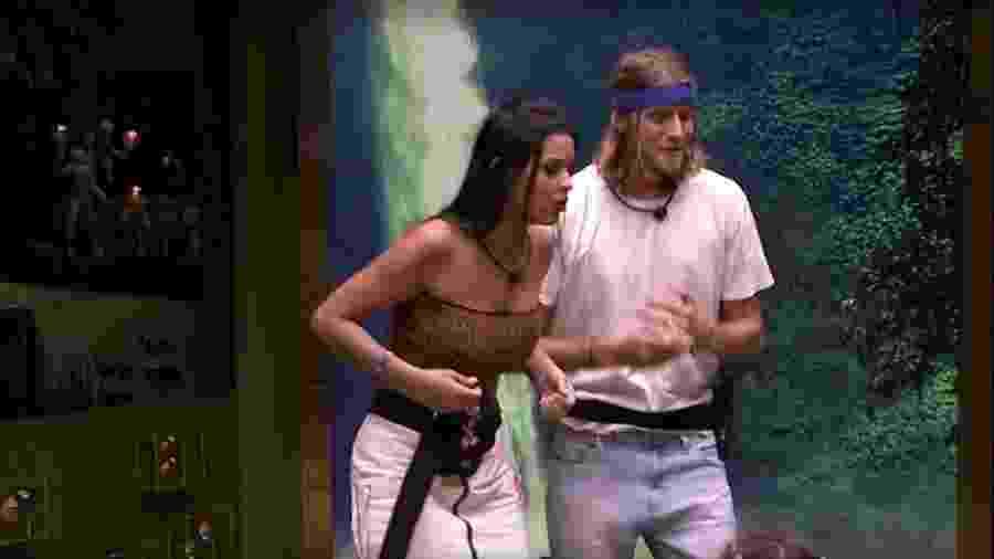 Ivy e Daniel que sairam da Casa de Vidro  - Reprodução / Internet