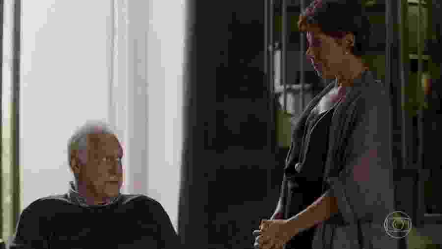 Alberto (Antonio Fagundes) e Vera (Ângela Vieira) em Bom Sucesso (Reprodução/TV Globo). - Alberto (Antonio Fagundes) e Vera (Ângela Vieira) em Bom Sucesso (Reprodução/TV Globo).