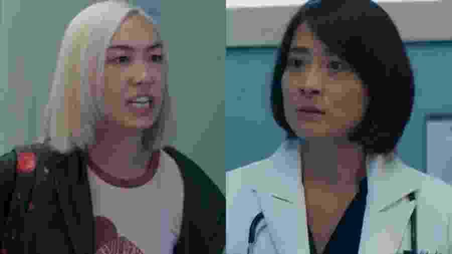 Tina (Ana Hikari) e Mitsuko (Lina Agifu) de Malhação - Viva a Diferença (Reprodução - TV Globo) - Reprodução / Internet