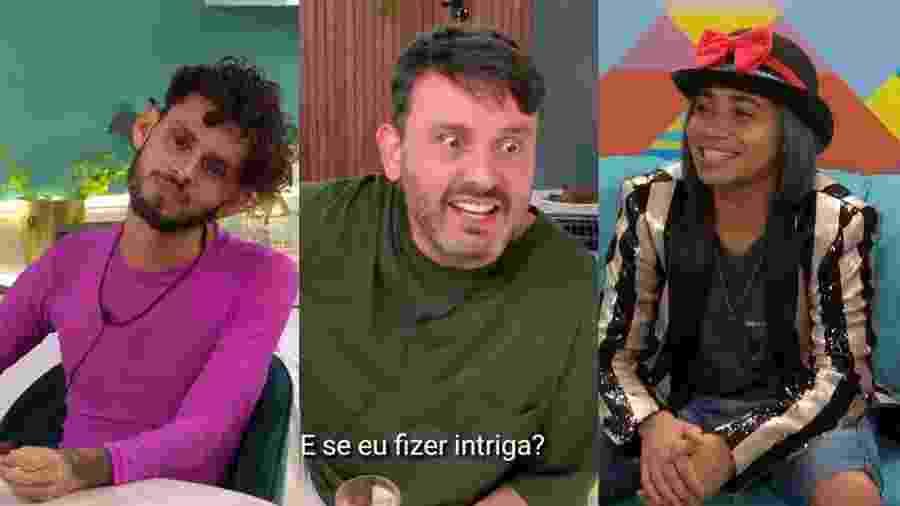 """Dumaresq, Raf e Loma, da primeira temporada do """"The Circle Brasil""""  - Reprodução/Netflix"""