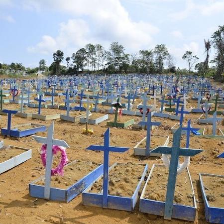 Manaus tem 198 enterros e bate recorde de enterros em um único dia  - Getty Images