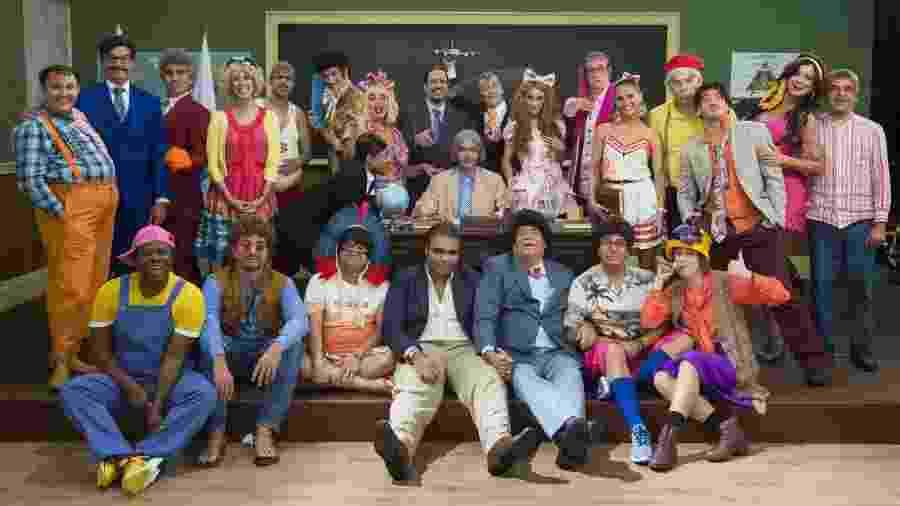 """Este foi o elenco da quinta temporada da """"Escolinha do Professor Raimundo"""" - TV Globo/Estevam Avellar"""