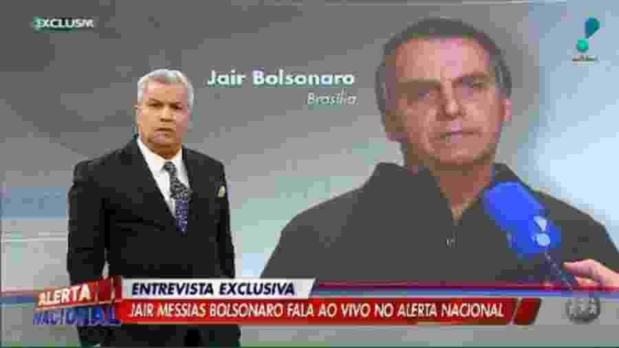 """Presidente Jair Bolsonaro em entrevista no """"Alerta Nacional"""", da RedeTV - Reprodução/RedeTV"""
