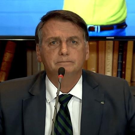 Jair Bolsonaro durante live em que reconheceu não ter provas de fraudes no sistema eleitora - Imagem: Reprodução/ TV Brasil
