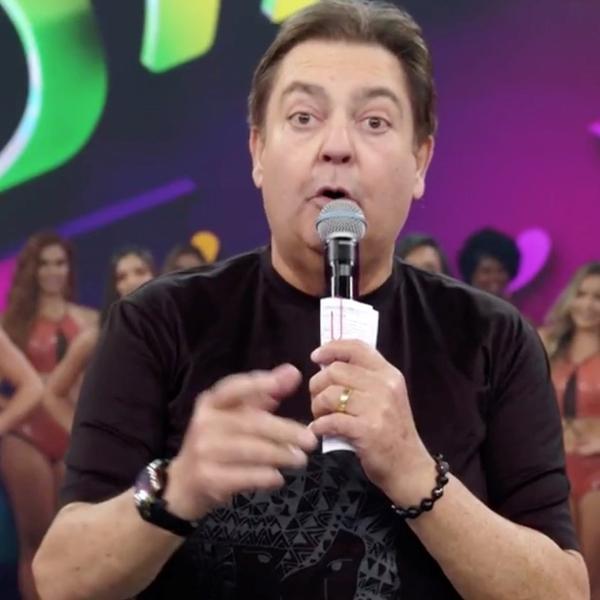 Fausto Silva no Domingão do Faustão (Reprodução/TV Globo).