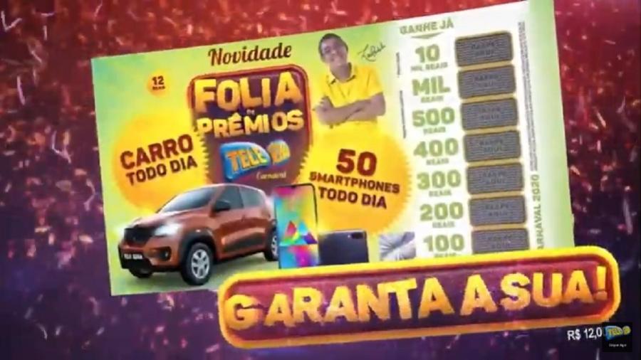 Tele Sena de Carnaval 2020 - Reprodução/YouTube