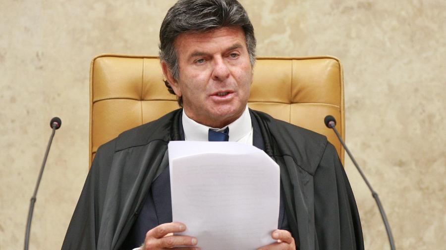 Luiz Fux, o presidente do STF, lê discurso na sessão de abertura após o 7 de Setembro golpista  - Nelson Jr./STF