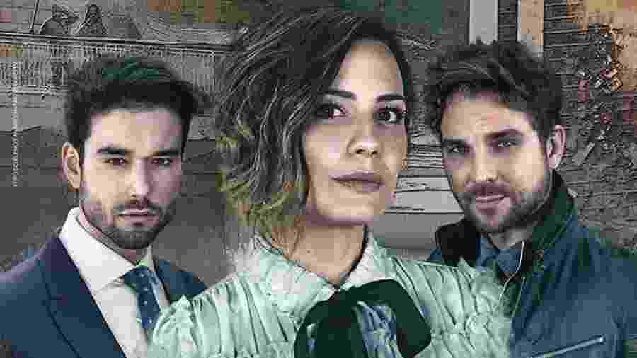 Sérgio Marone, Juliana Knust e Igor Rickli, os protagonistas de Apocalipse - Divulgação / Record TV