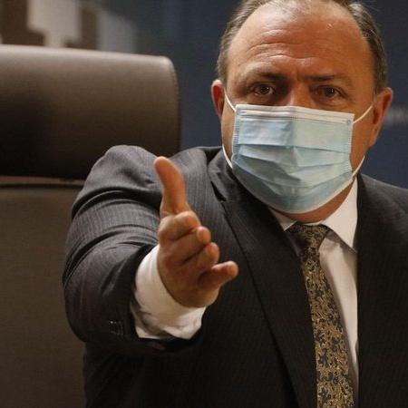 O ministro da Saúde, Eduardo Pazuello, concede entrevista sobre a vacinação contra a covid-19 no país - Tânia Rêgo/Agência Brasil