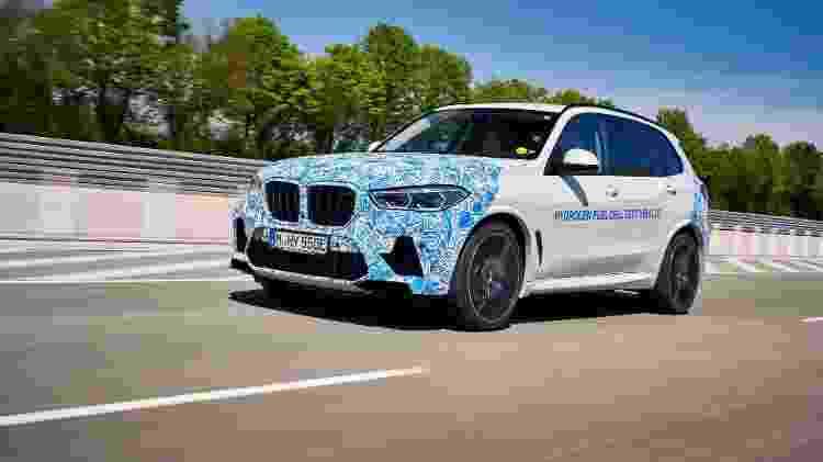 Protótipo do BMW X5 com célula de hidrogênio; abastecimento para rodar 500 km leva poucos minutos - Divulgação - Divulgação