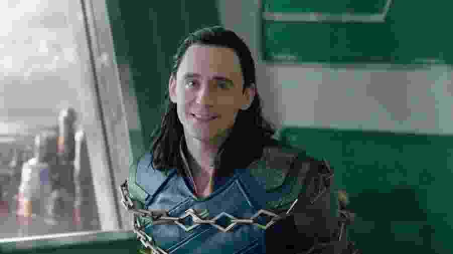 Tom Hiddleston como Loki em Thor: Ragnarok - Reprodução