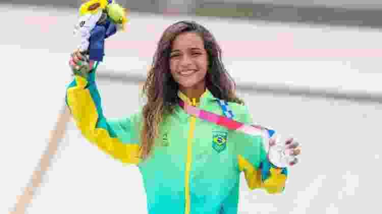 Rayssa Leal, a skatista brasileira ganhadora da medalha de Prata Em Tóquio aos 13 anos de idade. Foto: Wander Roberto/COB - Reprodução / Internet - Reprodução / Internet
